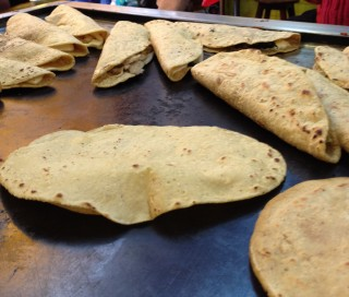 Quesadillas + tortilla qui gonfle