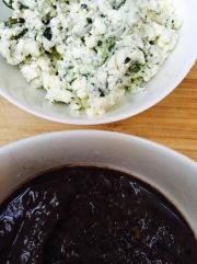 Fromage + Epazote et préparation haricots